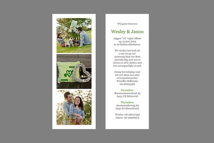 trouwen uitnodiging tekst