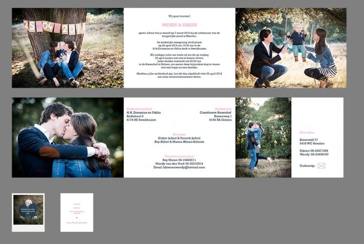 Uitnodiging Huwelijk Bedankje Geboortekaart Sjurlie Fotografie